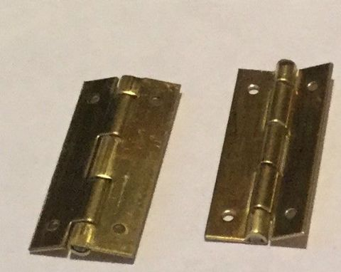 "3/4"" x 3/8"" Brass Hinges"